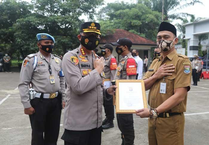 Gagalkan Aksi Kejahatan, Oding Tuai Penghargaan dari Polresta Tangerang