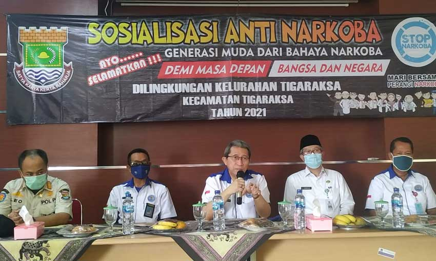 Kelurahan Tigaraksa Adakan Sosialisasi Anti Narkoba