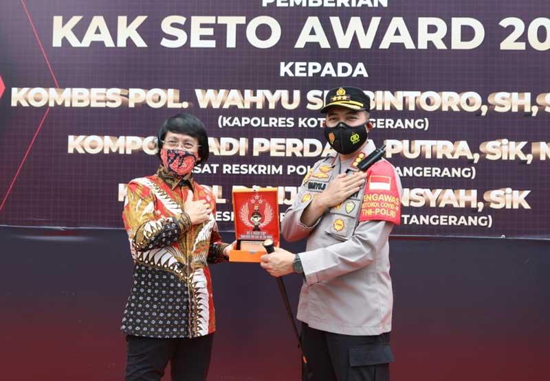 Polresta Tangerang Dapat Penghargaan Kak Seto Award
